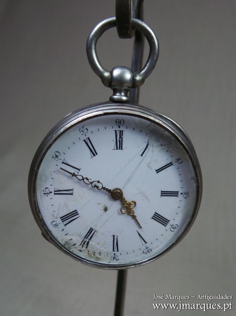Relógio de bolso prata