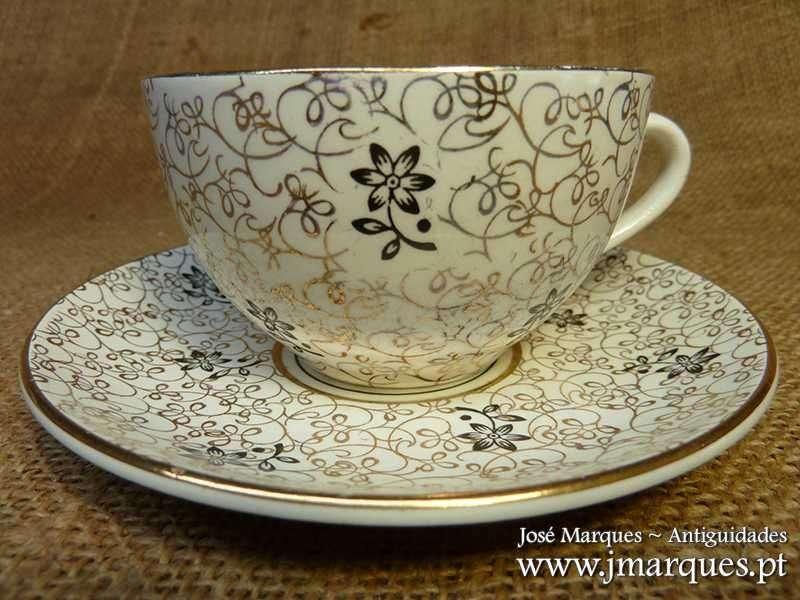 Chávena de Sacavém Dourada