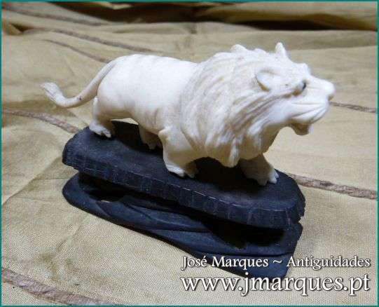 Leão em marfim