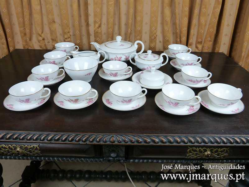 Serviço de chá Vista Alegre Decô