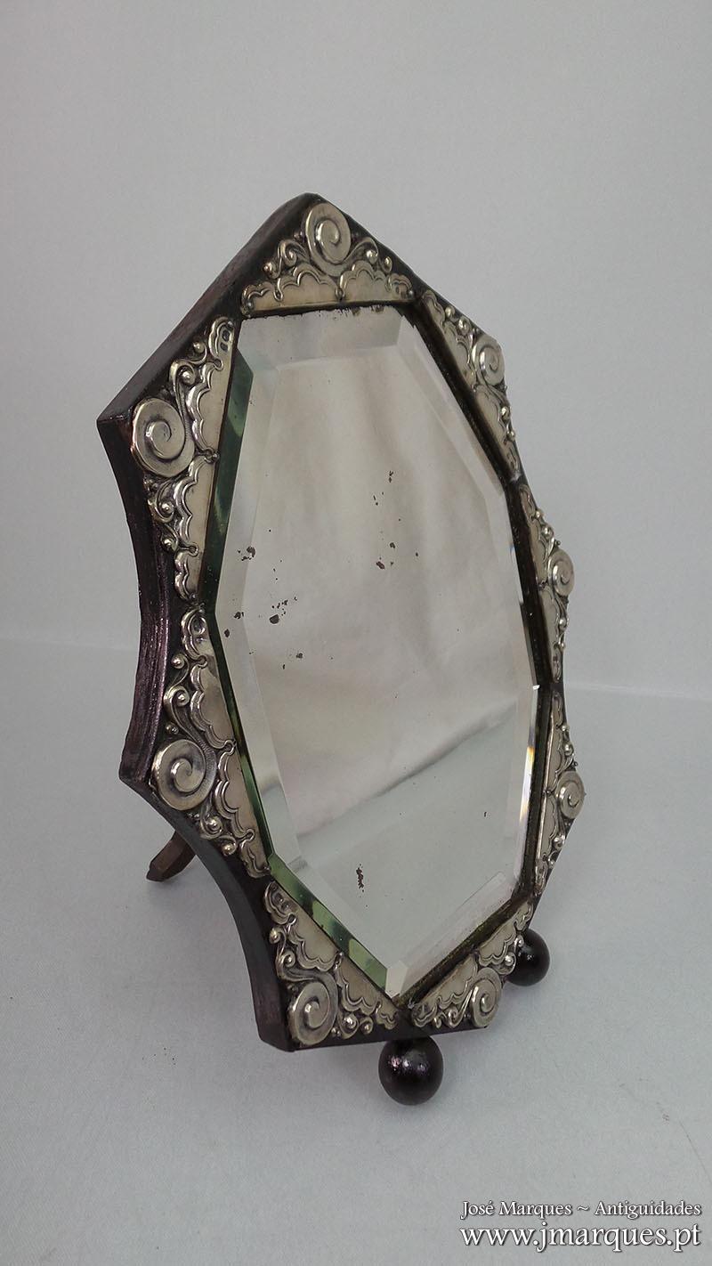 Espelho antigo prata