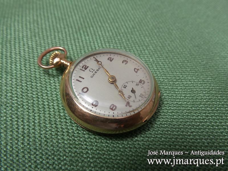 0220a5f6580 Relógio bolso OMEGA Ouro. Raridade. Imagem