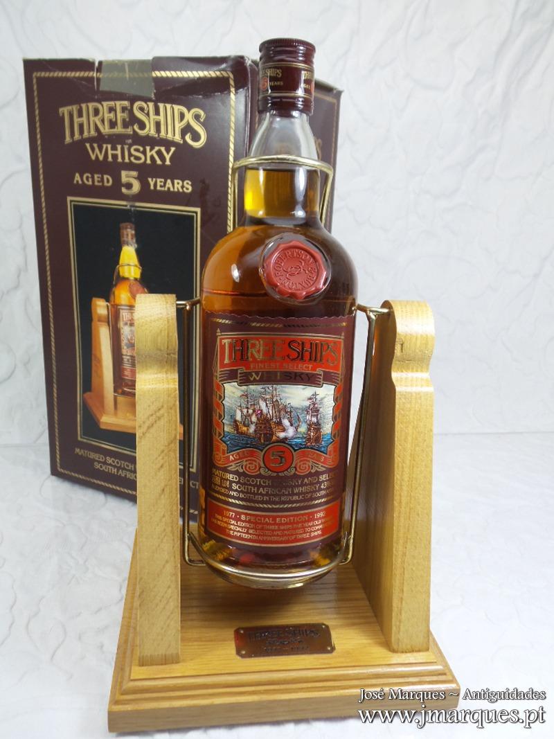 Whisky Three Ships 5 Anos