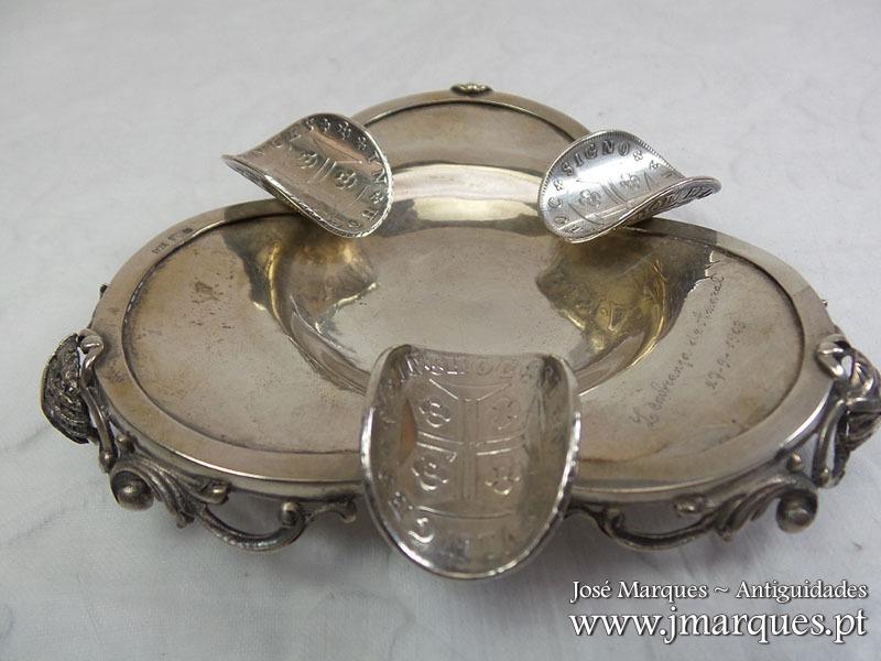 Cinzeiro em prata Javali