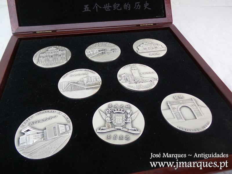 Oito medalhas em prata