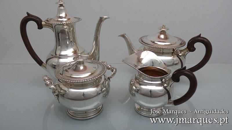 Serviço chá/café prata